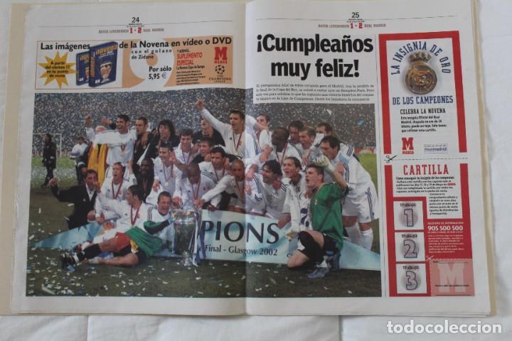 Coleccionismo deportivo: DIARIO MARCA. 26/05/2002. REAL MADRID NOVENA CHAMPIONS LEAGUE (2002) - Foto 2 - 288040793