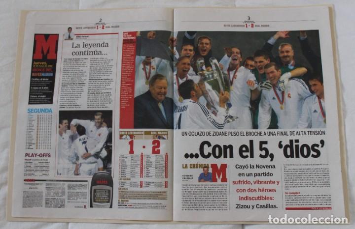 Coleccionismo deportivo: DIARIO MARCA. 26/05/2002. REAL MADRID NOVENA CHAMPIONS LEAGUE (2002) - Foto 4 - 288040793