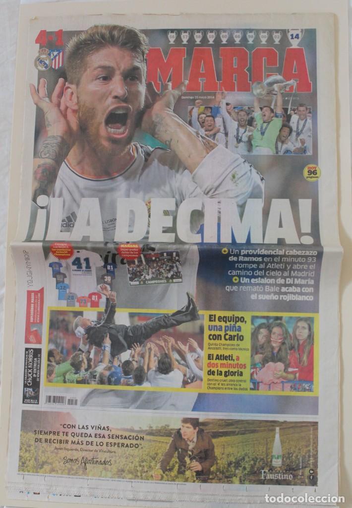 DIARIO MARCA. 25/05/2014. REAL MADRID DÉCIMA CHAMPIONS LEAGUE (2014) (Coleccionismo Deportivo - Revistas y Periódicos - Marca)