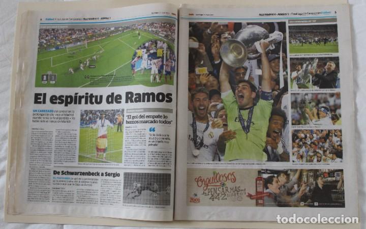Coleccionismo deportivo: DIARIO MARCA. 25/05/2014. REAL MADRID DÉCIMA CHAMPIONS LEAGUE (2014) - Foto 2 - 219493845