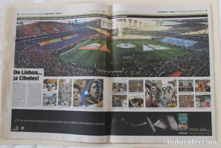 Coleccionismo deportivo: DIARIO MARCA. 25/05/2014. REAL MADRID DÉCIMA CHAMPIONS LEAGUE (2014) - Foto 3 - 219493845
