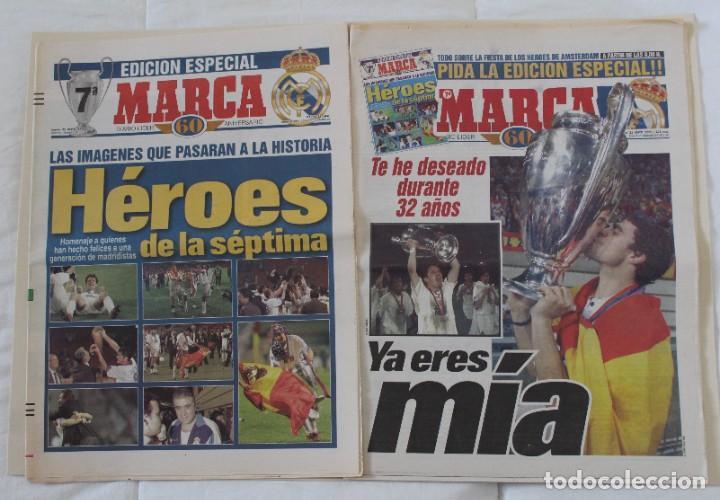 DIARIO MARCA. 21/05/1999 REAL MADRID SÉPTIMA CHAMPIONS LEAGUE Y EDICIÓN ESPECIAL (1999). (Coleccionismo Deportivo - Revistas y Periódicos - Marca)