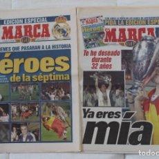 Collezionismo sportivo: DIARIO MARCA. 21/05/1999 REAL MADRID SÉPTIMA CHAMPIONS LEAGUE MÁS EDICIÓN ESPECIAL (1999).. Lote 219494946