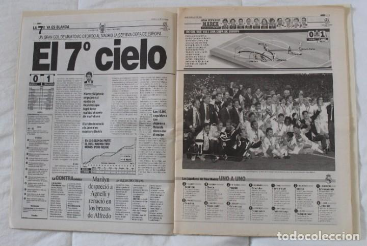 Coleccionismo deportivo: DIARIO MARCA. 21/05/1999 REAL MADRID SÉPTIMA CHAMPIONS LEAGUE Y EDICIÓN ESPECIAL (1999). - Foto 2 - 219494946
