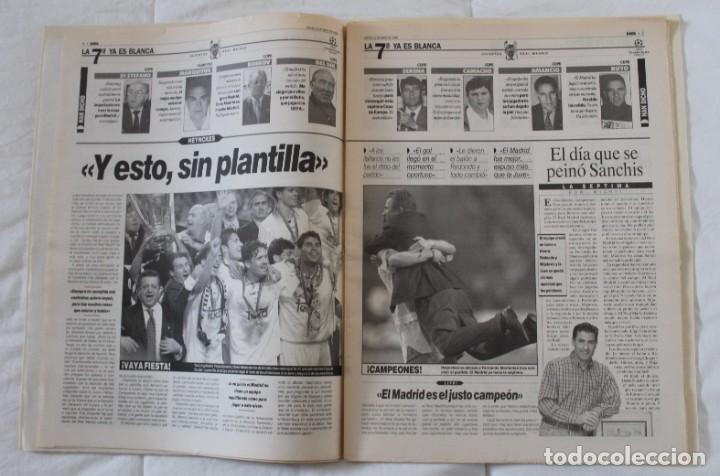 Coleccionismo deportivo: DIARIO MARCA. 21/05/1999 REAL MADRID SÉPTIMA CHAMPIONS LEAGUE Y EDICIÓN ESPECIAL (1999). - Foto 3 - 219494946