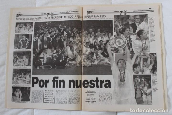 Coleccionismo deportivo: DIARIO MARCA. 21/05/1999 REAL MADRID SÉPTIMA CHAMPIONS LEAGUE Y EDICIÓN ESPECIAL (1999). - Foto 4 - 219494946