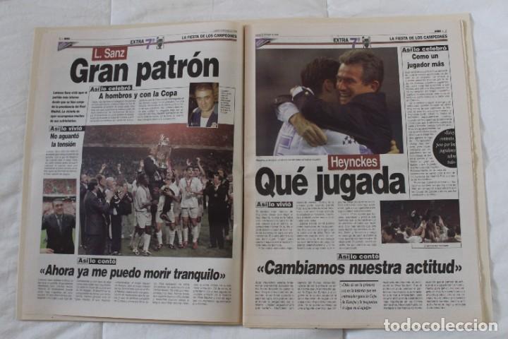 Coleccionismo deportivo: DIARIO MARCA. 21/05/1999 REAL MADRID SÉPTIMA CHAMPIONS LEAGUE Y EDICIÓN ESPECIAL (1999). - Foto 5 - 219494946