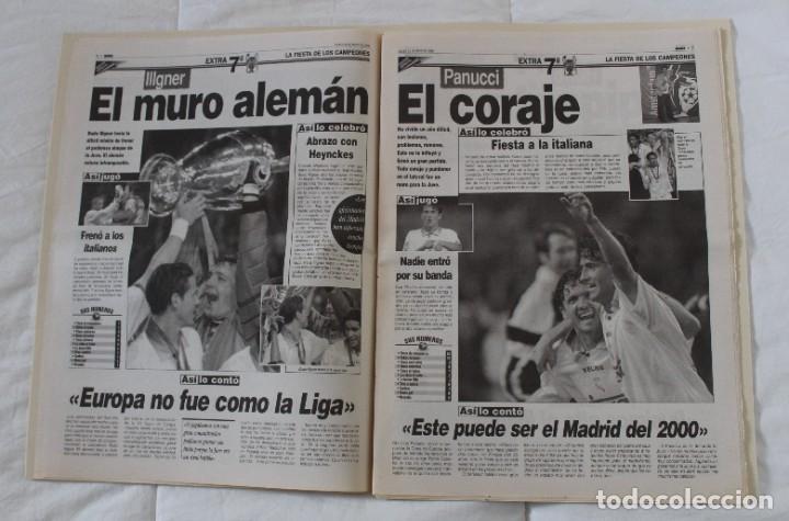 Coleccionismo deportivo: DIARIO MARCA. 21/05/1999 REAL MADRID SÉPTIMA CHAMPIONS LEAGUE Y EDICIÓN ESPECIAL (1999). - Foto 6 - 219494946