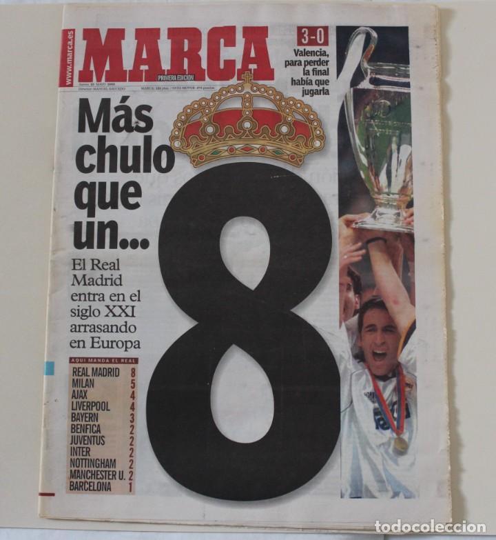DIARIO MARCA. 25/05/2000. REAL MADRID OCTAVA CHAMPIONS LEAGUE (2000) (Coleccionismo Deportivo - Revistas y Periódicos - Marca)