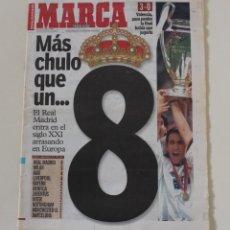 Collezionismo sportivo: DIARIO MARCA. 25/05/2000. REAL MADRID OCTAVA CHAMPIONS LEAGUE (2000). Lote 219495425