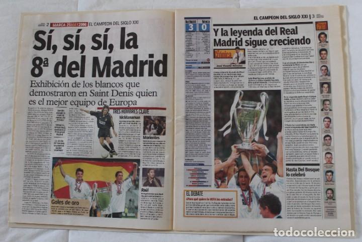 Coleccionismo deportivo: DIARIO MARCA. 25/05/2000. REAL MADRID OCTAVA CHAMPIONS LEAGUE (2000) - Foto 2 - 219495425