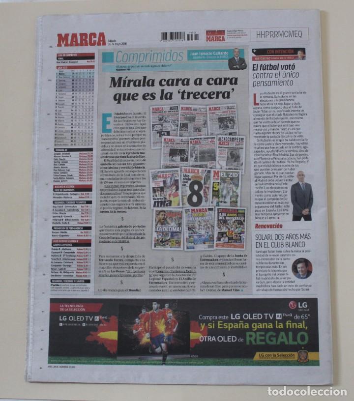 Coleccionismo deportivo: DIARIO MARCA. 27/05/2018. REAL MADRID DÉCIMATERCERA CHAMPIONS LEAGUE (2018) - Foto 8 - 219496122