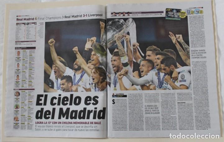 Coleccionismo deportivo: DIARIO MARCA. 27/05/2018. REAL MADRID DÉCIMATERCERA CHAMPIONS LEAGUE (2018) - Foto 3 - 219496122