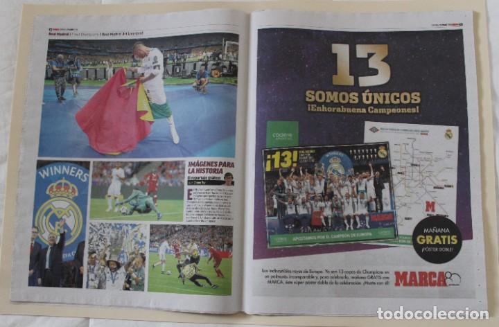 Coleccionismo deportivo: DIARIO MARCA. 27/05/2018. REAL MADRID DÉCIMATERCERA CHAMPIONS LEAGUE (2018) - Foto 5 - 219496122