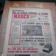 Coleccionismo deportivo: PERIODICO MARCA 20 DE MAYO DEL 1968 CORDOBA ELIMINADO DE PRIMERA, AMANCIO GOL. Lote 272345328