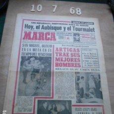 Coleccionismo deportivo: PERIODICO MARCA 10 DE JULIO DEL 1968 LEGRÁ PESO PLUMA, CICLISMO SAN MIGUEL, REXACH- ARTIGAS. Lote 272348358