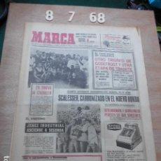 Coleccionismo deportivo: PERIODICO MARCA 8 DE JULIO DEL 1968 JEREZ INDUSTRIAL ASCIENDE A SEGUNDA. Lote 272349193