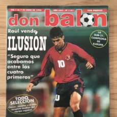 Coleccionismo deportivo: FÚTBOL DON BALÓN 1181 - POSTER ESPAÑA - MADRID - BARÇA - FRANCIA 98 APÉNDICE - RAUL - VILLARREAL. Lote 272985243