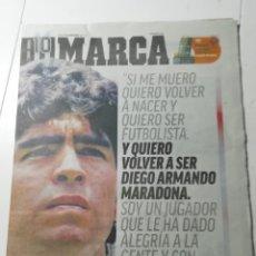 Coleccionismo deportivo: MARCA: FALLECIMIENTO DE DIEGO ARMANDO MARADONA. Lote 273669933