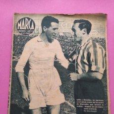 Collectionnisme sportif: PERIODICO MARCA Nº 18 1943 REAL MADRID GRANADA TROMPI - OVIEDO - UD LEVANTE - DELIO RODRIGUEZ. Lote 273724248