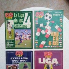 Coleccionismo deportivo: LOTE DE 4 REVISTAS AS COLOR LIGA FÚTBOL ( 1989-1990, 1990-1991, MUNDIAL 90, 1991 ). Lote 273768623