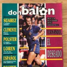 Coleccionismo deportivo: FÚTBOL DON BALÓN 750 - POSTER BAKERO - COPA DEL REY - ITALIA 90 - VALENCIA - COPA AFRICA - ESPANYOL. Lote 274659338