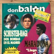 Coleccionismo deportivo: FÚTBOL DON BALÓN 763 - MARADONA - ITALIA 90 - MICHEL - GULLIT - ROMARIO - BETIS - WORLD CUP ITALY 90. Lote 274777488