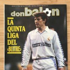 Coleccionismo deportivo: FÚTBOL DON BALÓN 756 - POSTER MICHEL - BUTRAGUEÑO - ESPAÑA - MADRID CAMPEÓN LIGA - ATLÉTICO. Lote 274841813
