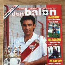 Coleccionismo deportivo: FÚTBOL DON BALÓN 959 - POSTER VALLADOLID - LAUDRUP - TENERIFE - DEL BOSQUE - HUGO SÁNCHEZ - USA 94. Lote 274873283