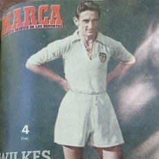 Collectionnisme sportif: SEMANARIO MARCA N °586 .1954. AT.MADRID 3 VALENCIA 0 - BARCELONA 5 R.MADRID 1. R.SOCIEDAD 4 CELTA 4. Lote 275104478