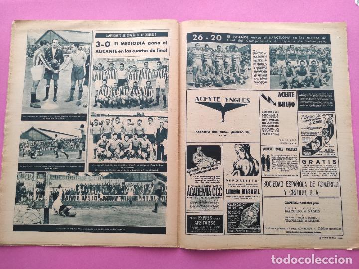 Coleccionismo deportivo: PERIODICO MARCA Nº 78 1944 COPA GRANADA ELIMINA AL REAL MADRID - MURCIA - ALICANTE - SEVILLA - Foto 6 - 275130443