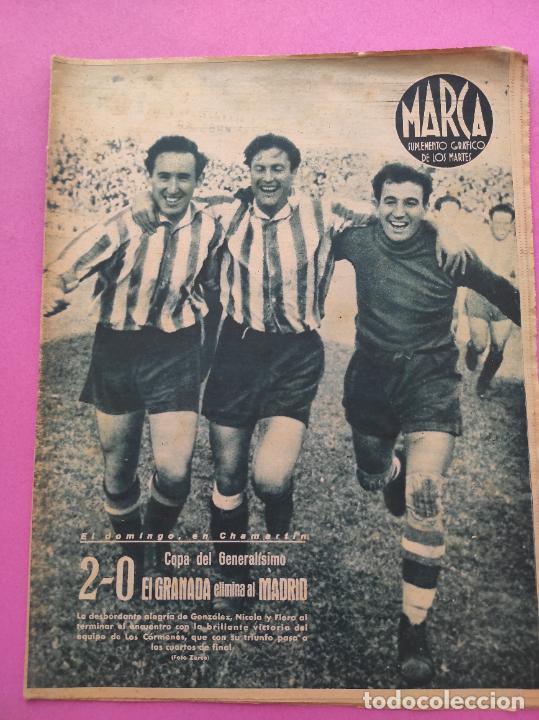 PERIODICO MARCA Nº 78 1944 COPA GRANADA ELIMINA AL REAL MADRID - MURCIA - ALICANTE - SEVILLA (Coleccionismo Deportivo - Revistas y Periódicos - Marca)
