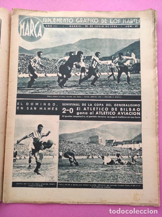 Coleccionismo deportivo: PERIODICO MARCA Nº 821944 COPA AT. AVIACION-ATHLETIC - RACING 5-4 MADRID - VALENCIA MURCIA - FERROL - Foto 2 - 275131293