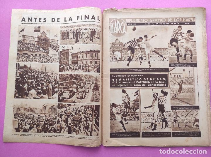 Coleccionismo deportivo: PERIODICO MARCA Nº 83 ATHLETIC CLUB BILBAO CAMPEON COPA GENERALISIMO 43/44 - VALENCIA 1943/1944 - Foto 2 - 275131583