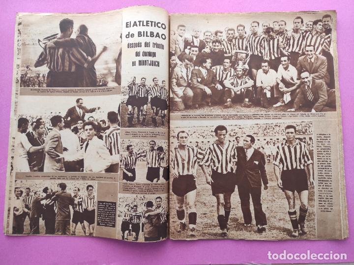 Coleccionismo deportivo: PERIODICO MARCA Nº 83 ATHLETIC CLUB BILBAO CAMPEON COPA GENERALISIMO 43/44 - VALENCIA 1943/1944 - Foto 5 - 275131583
