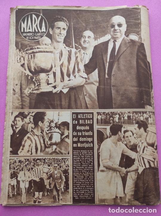 Coleccionismo deportivo: PERIODICO MARCA Nº 83 ATHLETIC CLUB BILBAO CAMPEON COPA GENERALISIMO 43/44 - VALENCIA 1943/1944 - Foto 8 - 275131583