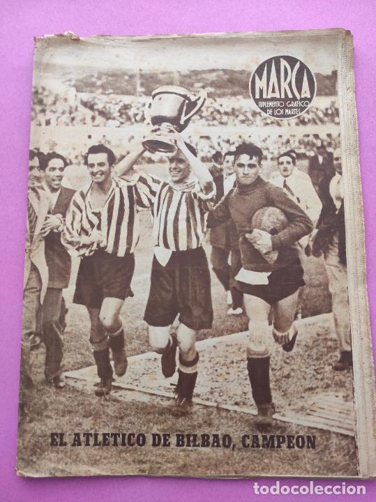 PERIODICO MARCA Nº 83 ATHLETIC CLUB BILBAO CAMPEON COPA GENERALISIMO 43/44 - VALENCIA 1943/1944 (Coleccionismo Deportivo - Revistas y Periódicos - Marca)