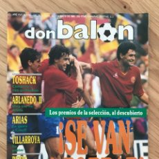 Coleccionismo deportivo: FÚTBOL DON BALÓN 757 - POSTER VILLARROYA - SPORTING - MADRID - ESPAÑA - ITALIA 90 - COPAS EUROPEAS. Lote 275139423