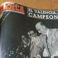 Collectionnisme sportif: SEMANARIO MARCA N ° 603 .1954 .EL VALENCIA CAMPEON DE COPA DEL GENERALÍSIMO VALENCIA 3 BARCELONA 0. Lote 275214273
