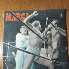 Coleccionismo deportivo: SEMANARIO MARCA N° 572. 1953. R.MADRID 1 R.SOCIEDAD 1 - BILBAO 2 BARCELONA 1- ZATOPEK - EVEREST ..... Lote 274887098