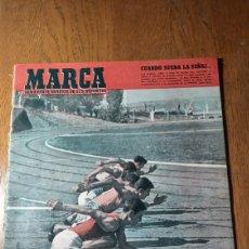 Coleccionismo deportivo: SEMANARIO MARCA N° 574.1953. R.MADRID 1 VALLADOLID 2. BILBAO 1 R.SOCIEDAD 3 . RIVER PLATE ,CAMPEÓN.. Lote 275039093