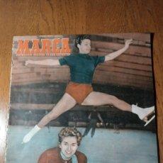 Coleccionismo deportivo: SEMANARIO MARCA N°576 .1953. R.MADRID 3 CELTA 1- SEVILLA 3 BARCELONA 1 . R.MADRID 0 INDEPENDIENTE 6. Lote 275047128