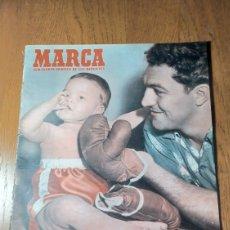 Coleccionismo deportivo: SEMANARIO MARCA N° 581 1954. R.MADRID 2 BILBAO 3 - R.SOCIEDAD 1 AT.MADRID 1- JAEN 2 BARCELONA 2.. Lote 275063543