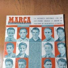 Coleccionismo deportivo: SEMANARIO MARCA N °589 1954. ESPAÑA PERDIO EN TURQUIA . MAÑANA DESEMPATE EN ROMA- LUISITO SUAREZ. Lote 275115113