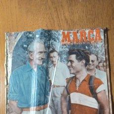Coleccionismo deportivo: SEMANARIO MARCA N° 562 .AÑO 1953. TERESA HERRERA. REAL MADRID CAMPEÓN- GALERÍA DE JUGADORES.MAGRIÑAN. Lote 274853928