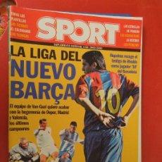 Coleccionismo deportivo: SPORT SUPLEMENTO ESPECIAL LIGA 2002-2003- LA LIGA DEL NUEVO BARÇA - VAN GAAL. Lote 275576033