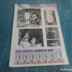 Coleccionismo deportivo: LAMINA REAL MADRID EL MEJOR EQUIPO DEL MUNDO , MARCA, LAMINAS AUTOADHESIVAS. Lote 275684618
