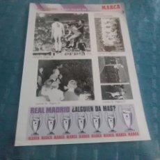 Coleccionismo deportivo: LAMINA REAL MADRID EL MEJOR EQUIPO DEL MUNDO , MARCA, LAMINAS AUTOADHESIVAS. Lote 275684818