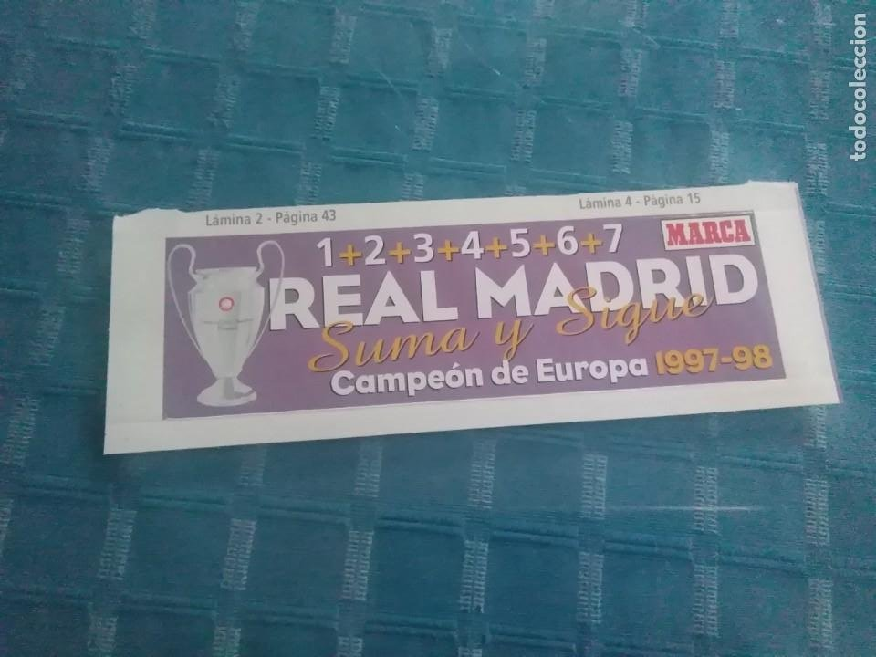 LAMINA MARCA AUTOADHESIVA, REAL MADRID (Coleccionismo Deportivo - Revistas y Periódicos - Marca)