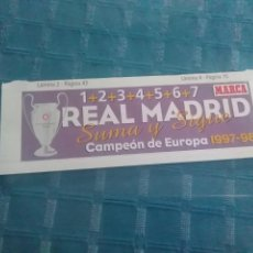 Coleccionismo deportivo: LAMINA MARCA AUTOADHESIVA, REAL MADRID. Lote 275687988